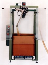 Machine for storing backing strips in cartons Type 442